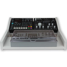 Load image into Gallery viewer, grey fonik stand for elektron multi setup shown with decksaver cover