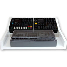 Load image into Gallery viewer, white fonik stand for elektron multi setup shown with decksaver cover