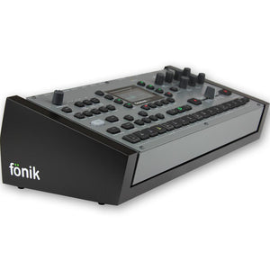 fonik stand for elektron octatrack monomachine or machinedrum in black