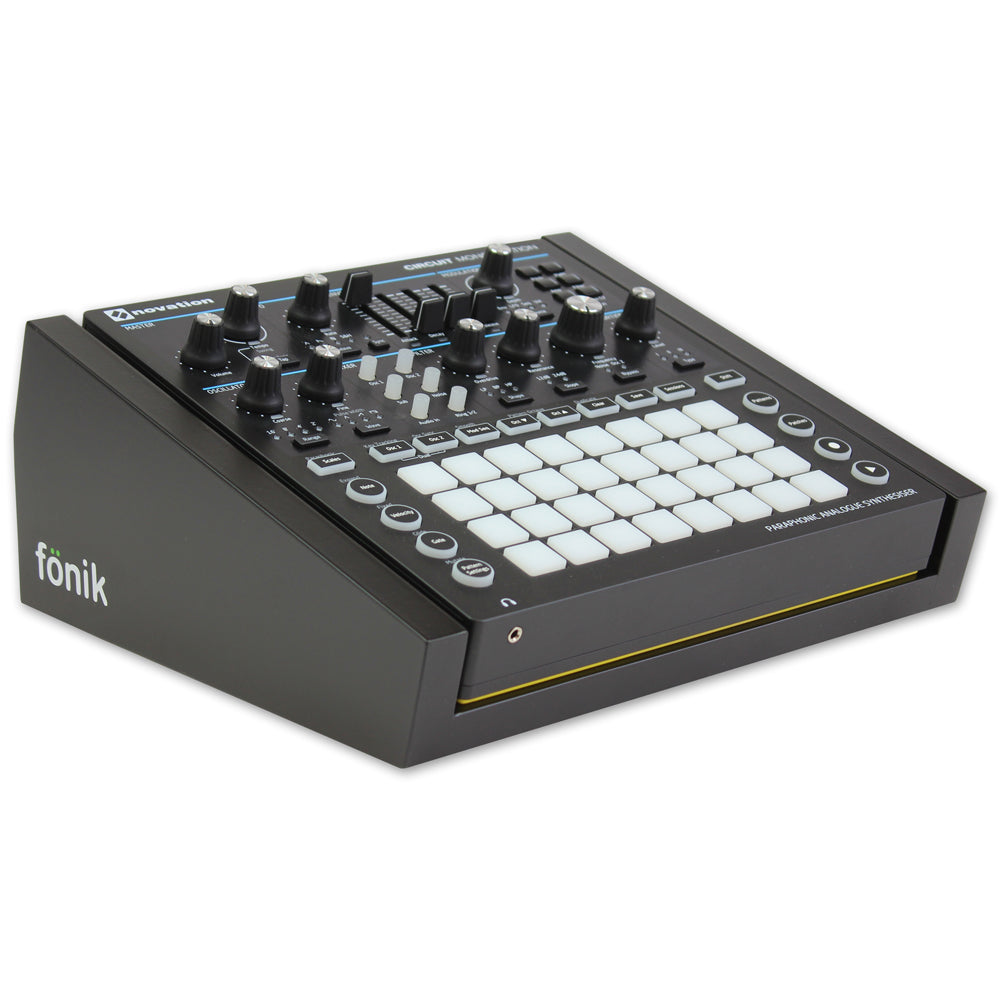 fonik stand for novation circuit mono station in black