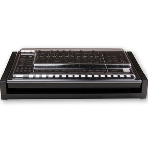 black fonik stand for roland tr-8s shown with decksaver cover