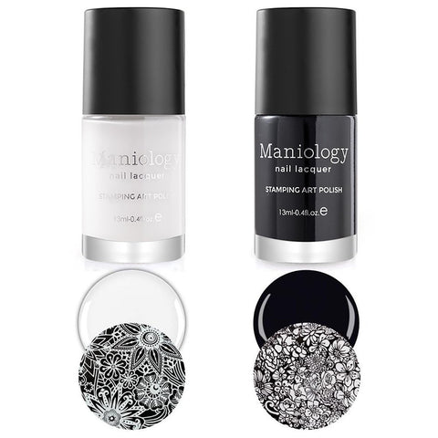 Maniology Black & White Stamping Polish Duo