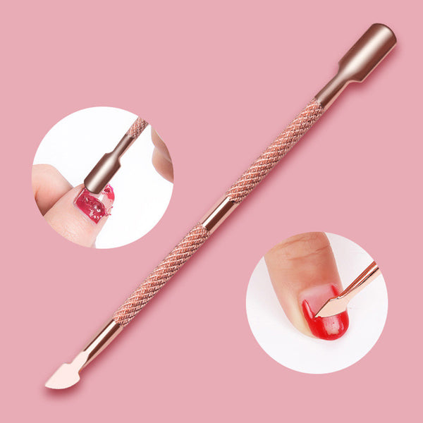 Steel Cuticle Pusher, Remover Tool + Spoon