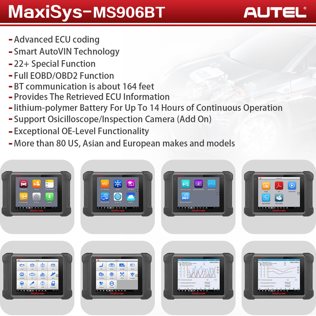 autel ms906bt with mv108 camera features overview