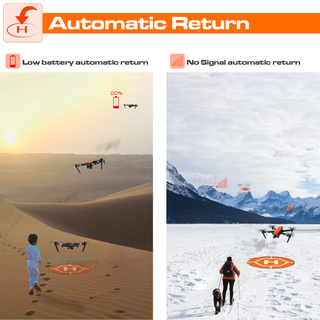 autel drone automatic return
