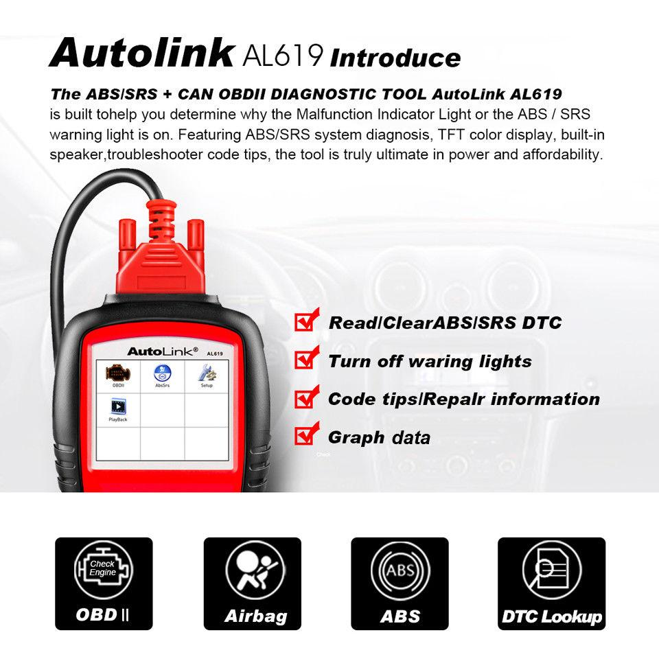 autel autolink619 introduce and main functions