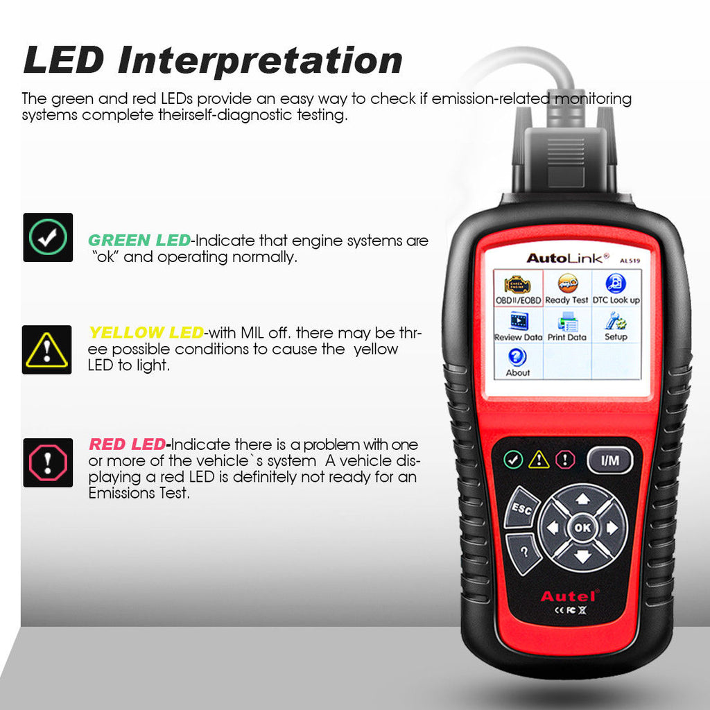 autel al519 led interpretation