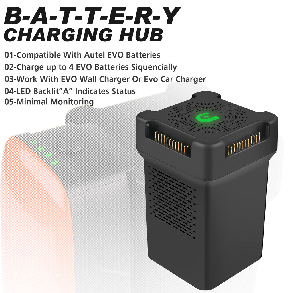 evo battery charging hub features