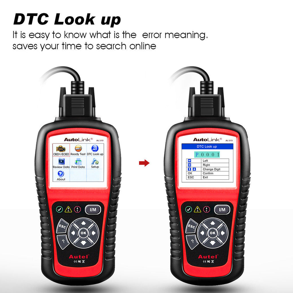 autel al519 dtc look up
