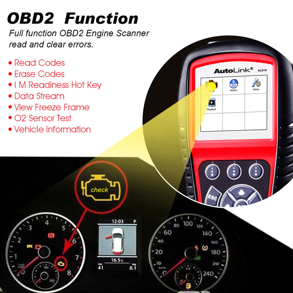 autel al619 support full obd2 functions