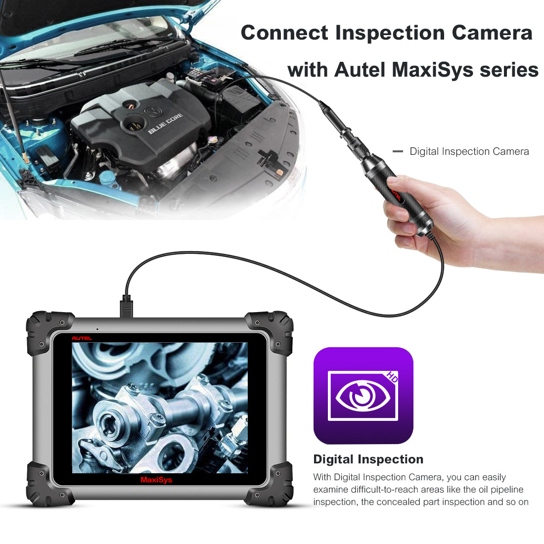 autel mv105 digital inspection camera