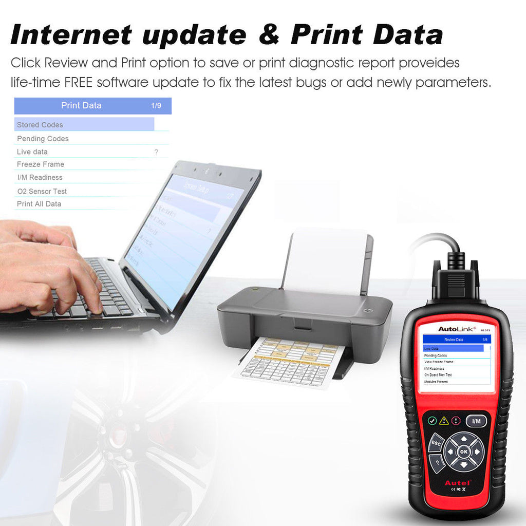 autel al519 updae and print data