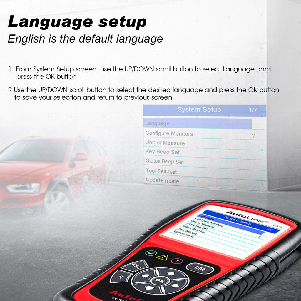 autel al519 language set up
