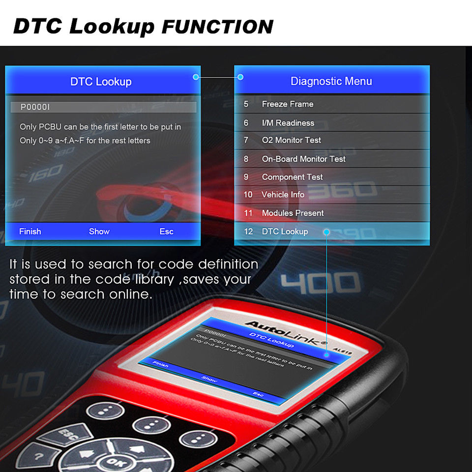 autel al619 dtc lookup function