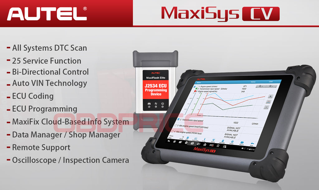 Autel MS908CV Scanner  Maxisys CV Heavy Duty Truck Diagnostic Tool