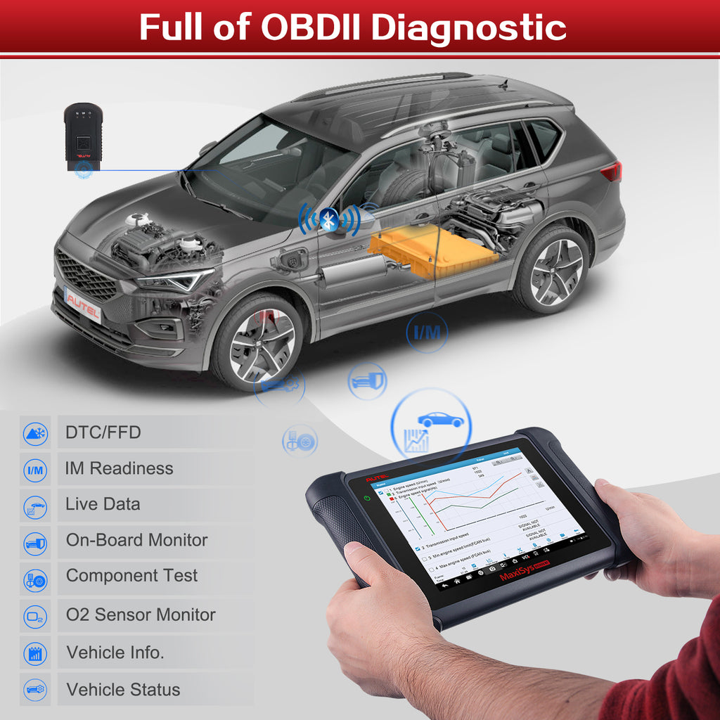 Autel MS906BT OBD2 diagnostic advanced ecu coding