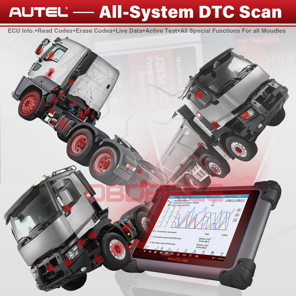 Autel MS908CV Scanner Maxisys CV Heavy Duty Truck Diagnostic Tool with all system diagnostic