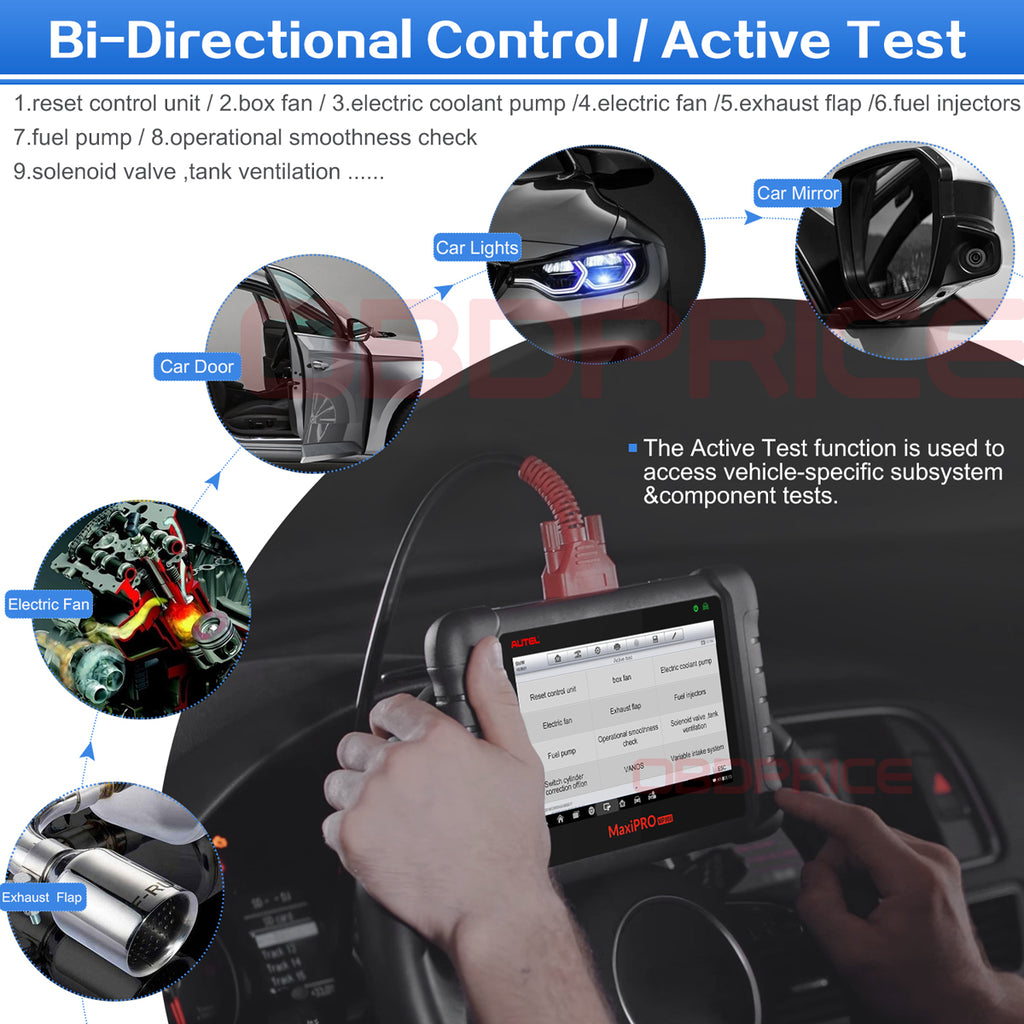 Autel MaxiPro MP808K Diagnostic Tool with bidirectional control functions