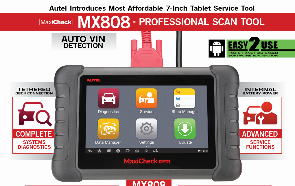 Autel MaxiCheck MX808 Professional Scan Tool
