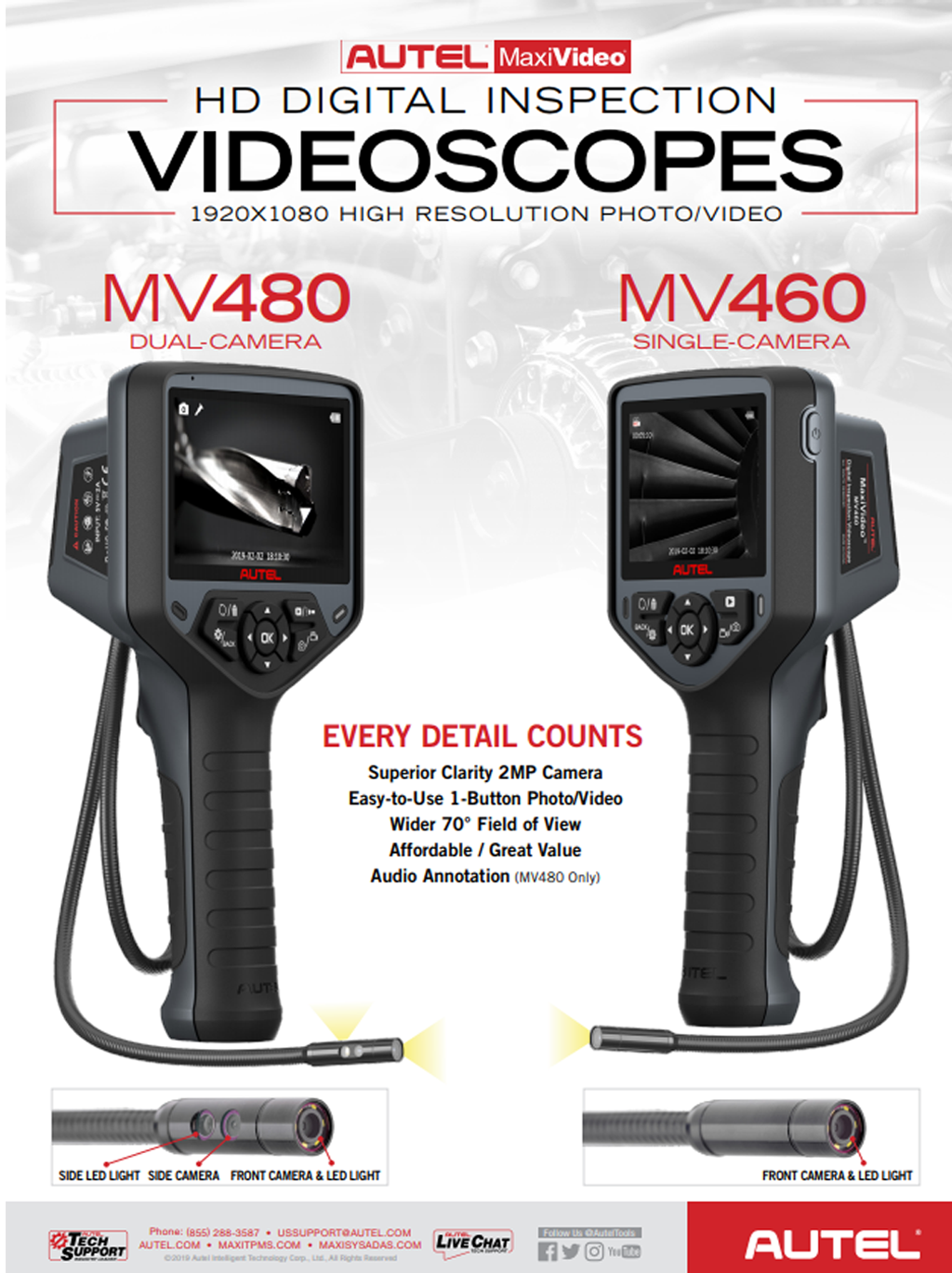 Autel MaxiVideo MV480 digital videoscope