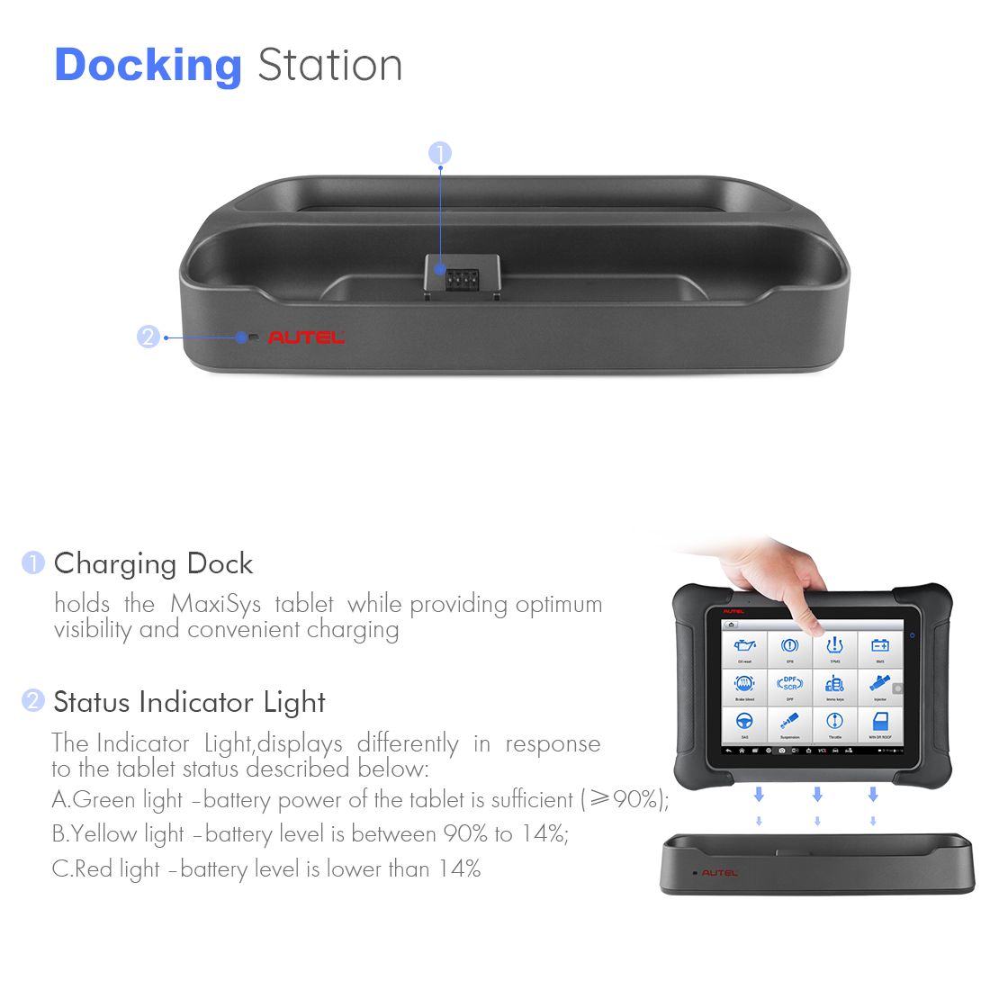 maxisys elite comes with docking station