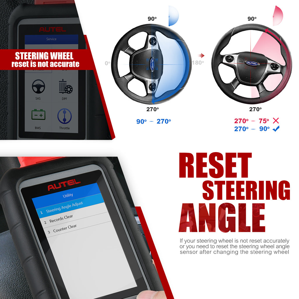 Autle md806 scanner reset steering angle