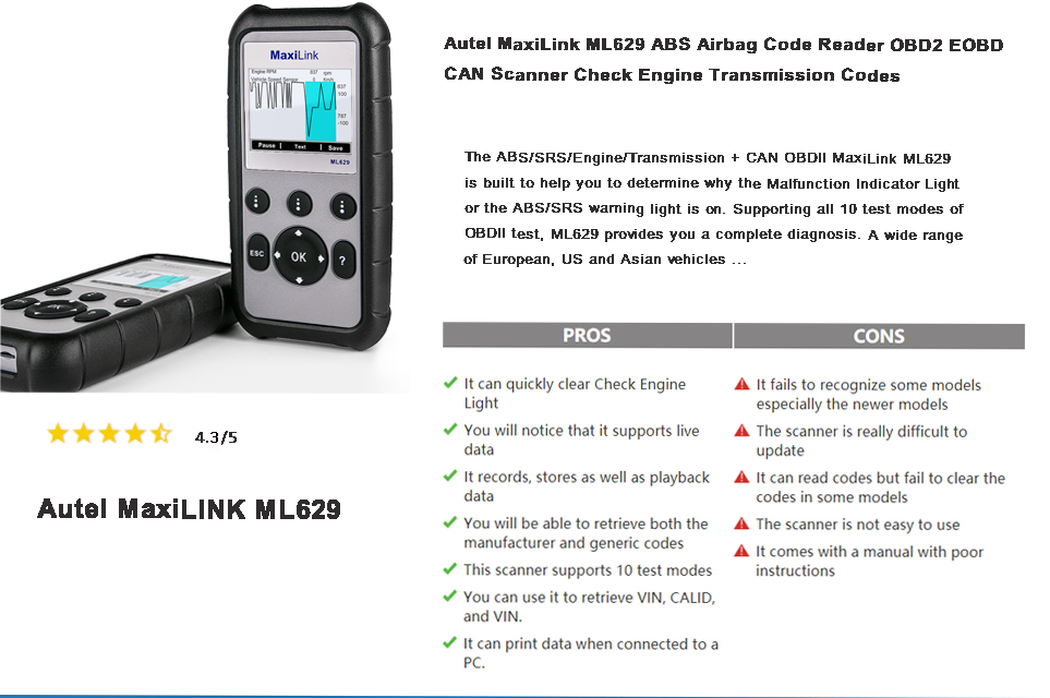 autel ml629 reviews