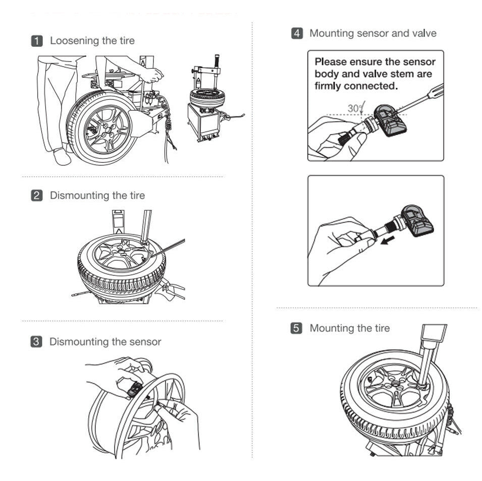 how to install tire pressure sensor?