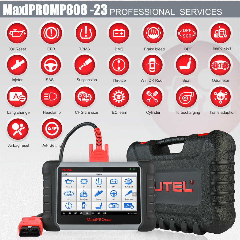 Autel MaxiPro MP808K Diagnostic Tool with 23 servies