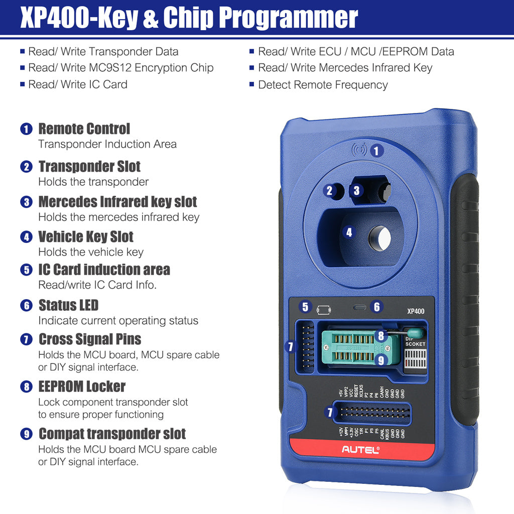 Autel xp400 Adapter key reprogramming functions