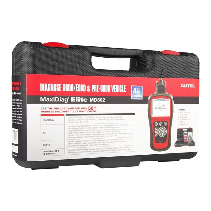 autel md802 package box