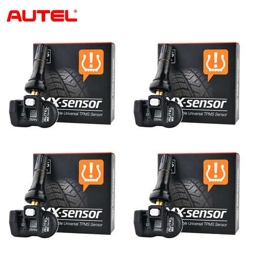 4PCS Autel MX-Sensor 315MHz TPMS Sensor Rubber Stem Tire Pressure Sensors Programmable Winter Snow Tire Exchange