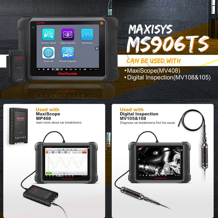 Autel MaxiSys MS906TS Diagnostic System & TPMS Service Tool 2 Years Free Update