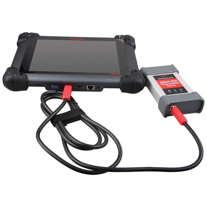 Autel MaxiFlash Elite J2534 ECU Programming Tool connects to diagnsotic tool