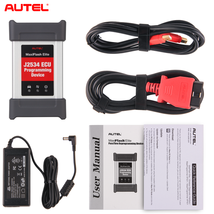 Autel MaxiFlash Elite J2534 ECU Programming Tool package list