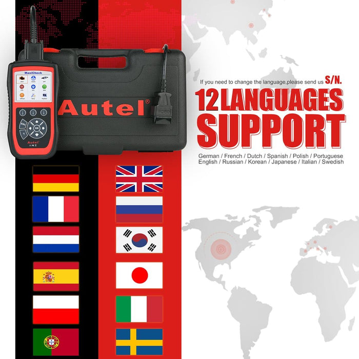 Autel maxicheck pro support languages