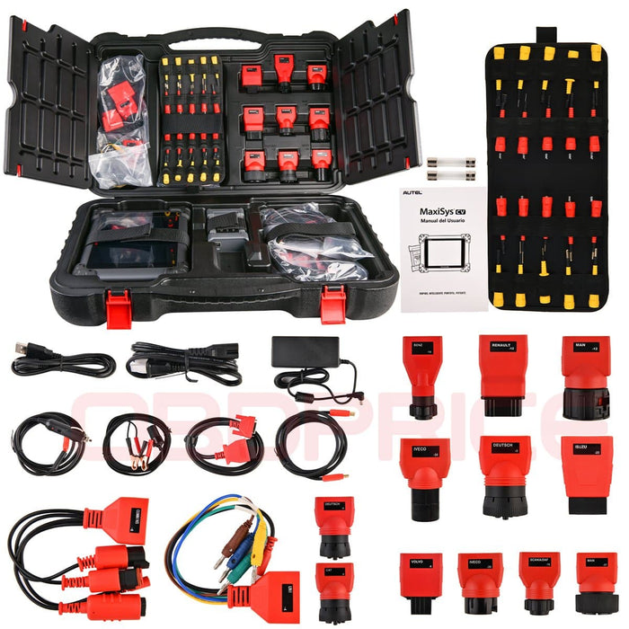 Autel MS908CV Scanner  Maxisys CV Heavy Duty Truck Diagnostic Tool package list