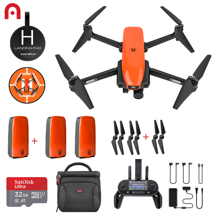 evo drone with 3 batteries