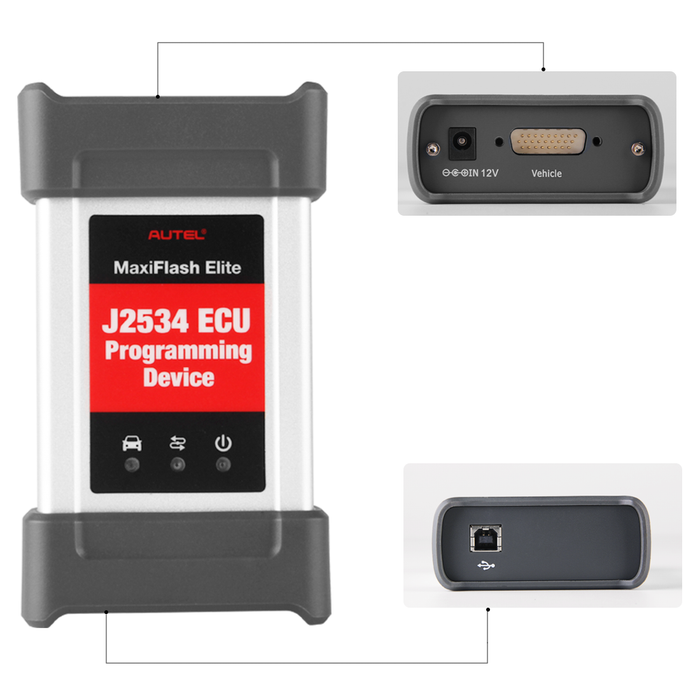 Autel MaxiFlash Elite J2534 ECU Programming Tool all interface show