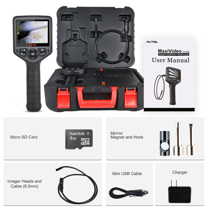 Autel Maxivideo MV460 inspection camera package list