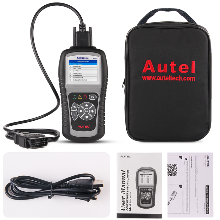 Autel MaxiLink ML519 OBD2 code reader package list