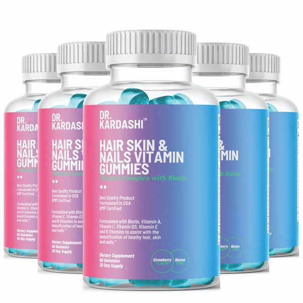 World's Best Biotin Hair Skin and Nails Gummies, Complete Hair Support, Hair Skin and Nails Vitamins