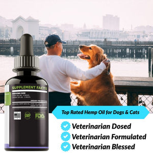 TRUAZTA 1500mg, 1 Fl. Oz, Hemp Oil For Dogs for Pain Relief & Dog Anxiety Relief, Natural Hemp Oil for Pets, Stress Relief Essential Oil For Dogs & Cats