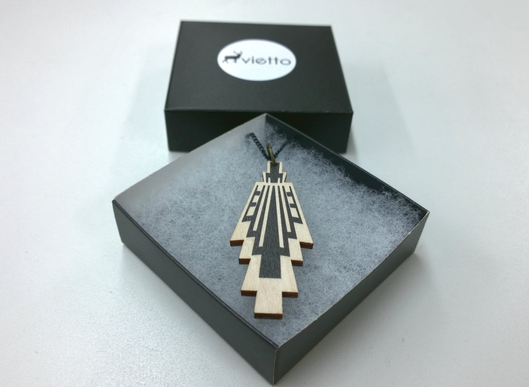 Vietto Urban Art deco necklace