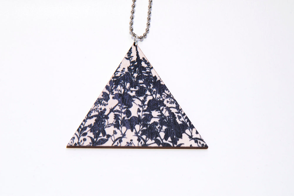 Vietto Bloom triangle necklace