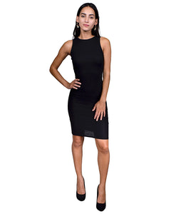 Fashion crew neck fitted sheath dress