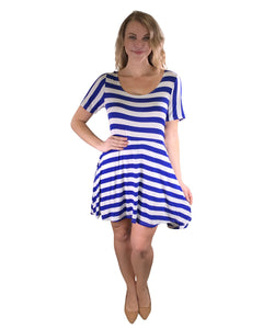 Plus stripe pattern dress