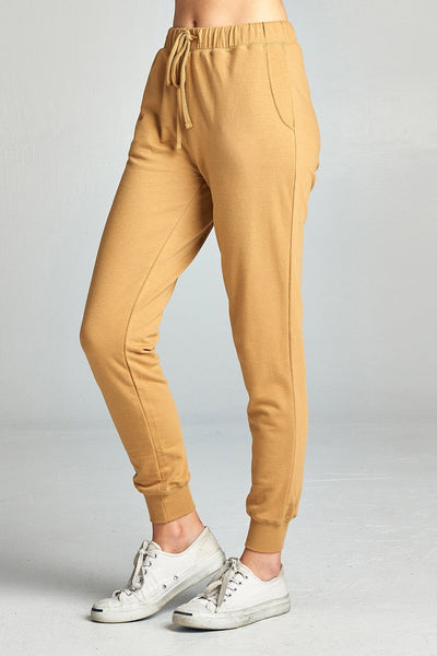 Ladies fashion french terry jogger pants