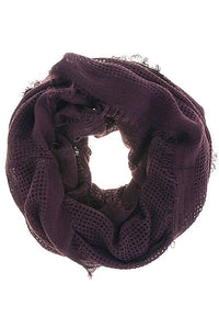 Ladies fashion earthy tone solid color infinity scarf
