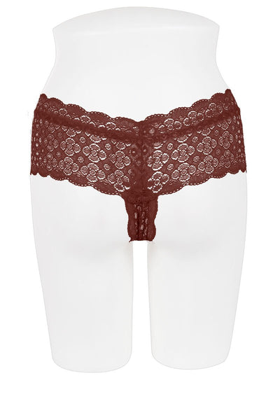 Ladies lace thong panty
